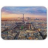 Stuoia di asciugatura per piatti con vista aerea di Parigi al tramonto, per cucina, controsoffitti, lavandini, tappetino assorbente resistente al calore, per scolapiatti, 40,5 x 45,5 cm