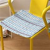 Estilo de la historieta del algodón Silla de comedor Cojines con lazos cuadrados rellenos de asientos for las sillas de cocina Conjunto De 2 antideslizante del asiento al aire libre cojines de silla c