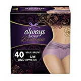 Always Discreet Boutique Incontinence & Postpartum Incontinence Underwear for Women,...