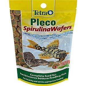 Tetra Pleco Fish Food Spirulina Wafers 42g, 100% Vegetable Premium Fish Food for Bottom Feeding Fish