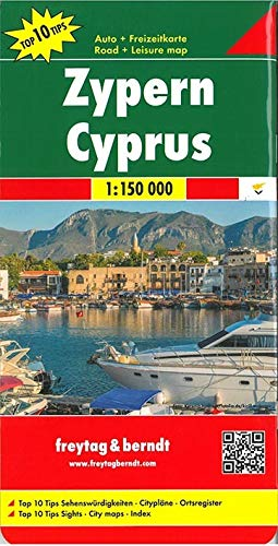 Zypern, Autokarte 1:150.000, Top 10 Tips: Toeristische wegenkaart 1:150 000 (freytag & berndt Auto + Freizeitkarten)