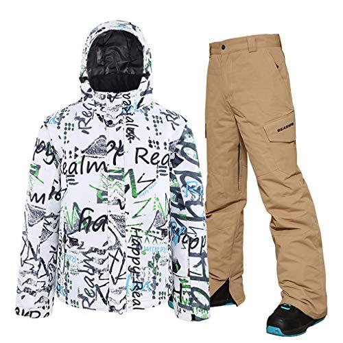 Ski-jack heren in broek, ski-jack, thermische broek, set, winddicht, snowboardjas, waterdicht, geschikt voor snowboarden, bergbeklimmen