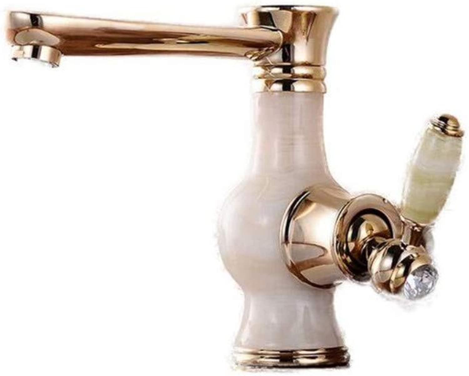 Modern Plated Kitchen Bathroom Faucet Basin Hot and Cold Faucet Wash Basin Retro redating Faucet Single Hole Faucet