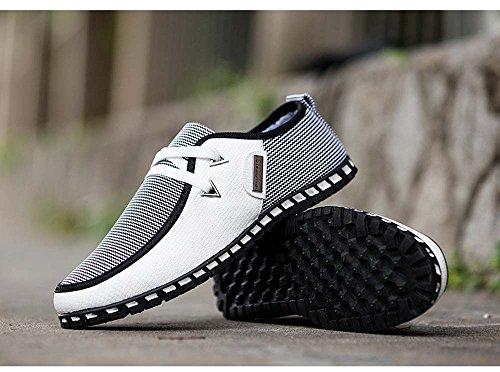 WYFC Chaussures Pour Hommes Chaussures Basses À Lacets Baskets Respirantes Baskets Sport Baskets Été Peas Shoes Casual Shoes,B,45