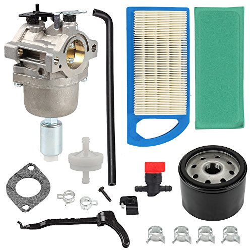 Harbot LA115 MIA12509 Carburetor + Oil Filter+Air Filter Repower Kit for John Deere L107 L108 115 LA115 LA105 LA125 D110 Lawn Mower Tractor