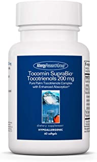 Allergy Research Group - Tocomin SupraBio Tocotrienols 200 mg - Palm Oil Vitamin E - 60 Softgels