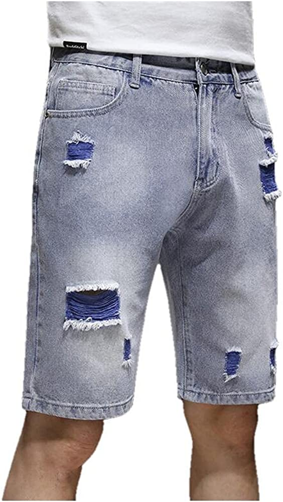 Plus Size Men's Loose Straight Denim Shorts Summer Classic Style Youth