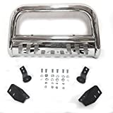 TRIL GEAR 3' Tube Front Bumper Brush Push Grill Guard Bull Bar Compatible with 2007-2019 Tundra Models/2008-2019 Sequoia All Models Stainless Steel