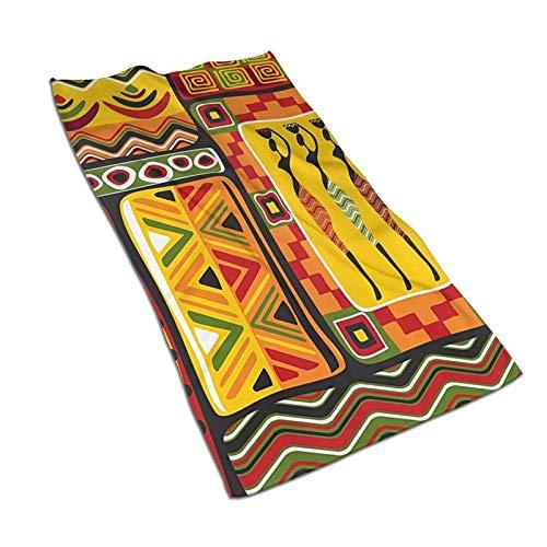 WH-CLA Beach Towel African Elements - Toalla De Baño A Rayas Original Histórica Decorativa Toallas De Baño Ligeras para Adultos 80X130 Cm Toalla De Piscina Colorida De Secado Rápido Lujo