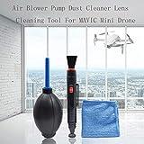 TwoCC Accessoires Drone,Kit de Nettoyage Outil de Nettoyage de lentille de Nettoyeur de poussière de Pompe de...