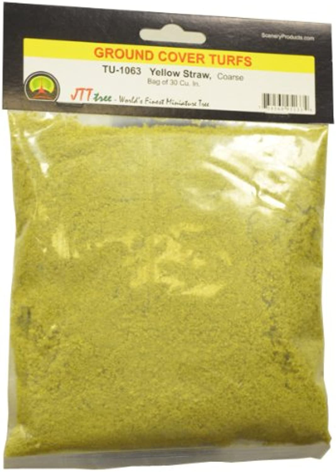 JTT Scenery Products Ground Cover Turf, Yellow Straw, Coarse 30 Cubic Inch