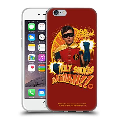 Head Case Designs Ufficiale Batman TV Series Robin Fumi Santi Arte Personaggio Cover in Morbido Gel Compatibile con Apple iPhone 6 / iPhone 6s