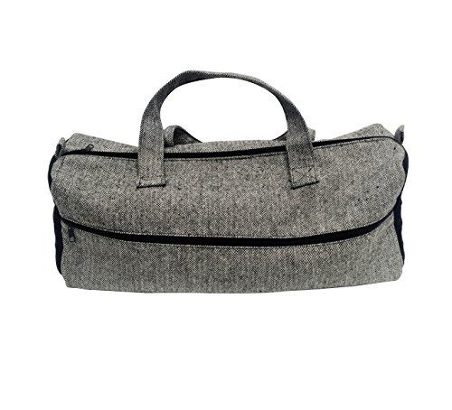 Korbond Lockland borsa a maglia a spina di pesce, in poliestere, grigio, taglia unica