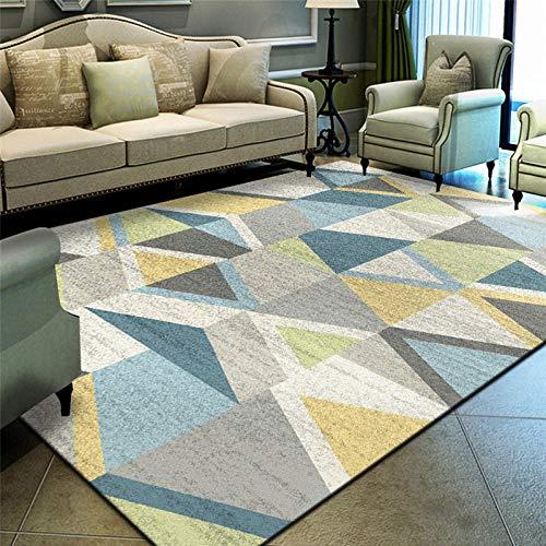 DYEWD Alfombra cómoda, de textura simple, alfombras para el hogar, modernas y grandes áreas, alfombras rectangulares de esquina en el dormitorio y sala de estar. Dyy-05_80 x 120 cm