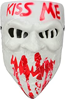 Gmasking 2018 PVC Halloween Election Horror New Year Kiss Me Cosplay Mask Costume Props (White)