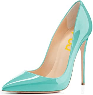 FSJ Women Formal Pointed Toe Pumps High Heel Stilettos Sexy Slip On Dress  Shoes Size 4 ecd7b7b17c24