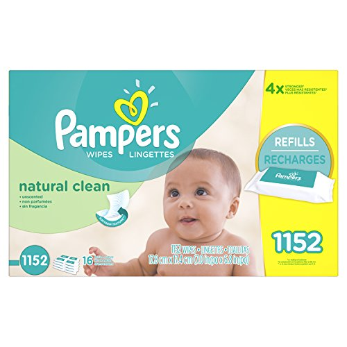 Product Image of the Pampers Baby Wipes Natural Clean 16X Refill, 1152 Count