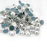 Strass termoadhesivos Hotfix Deluxe Crystal AB de SS 04 a 40 para tejidos y decoración, brillantes, Rhinestones (SS 20, 100 unidades, cristal transparente)