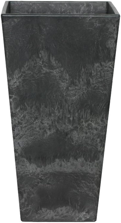 Artstone Pflanzgef Pflanzenkübel Ella, frostBestendig und leichtgewichtig, Schwarz, 35x70cm