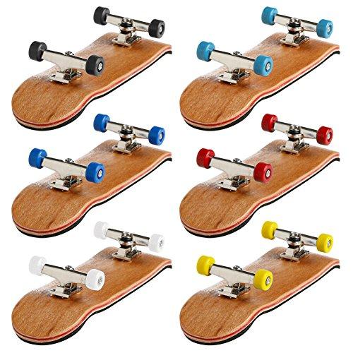 ECMQS Professionelle Typ Lager Räder Skid Pad Ahorn Holz Finger Skateboard Legierung Stent Radlager Griffbrett Neuheit Kinder Spielzeug (6pcs/6colors)