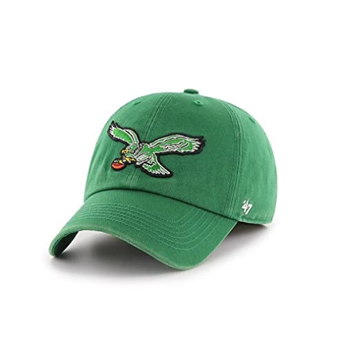 2dfbe489d4b9b3 '47 Philadelphia Eagles Brand Clean Up Throwback Logo Adjustable Hat -  Green. '