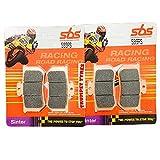 Trumpet Tyres: Race & Motorcycle Parts A.P. Racing Calipers CP-3769-2S0/3S0 SBS Performance Juego de Pastillas de Freno sinterizadas Delanteras de Carreras de Carreras 599RS