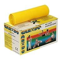 CanDo® Latex Free Exercise Band 2 x 50 yard rolls Yellow - x-light (ラテックスフリーエクササイズバンドロール 黄 約45m×2)