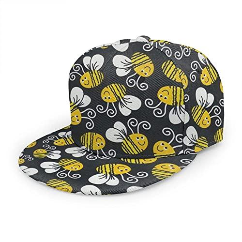 Oaieltj Unisex Baseballkappe Damen Herren Junge Mädchen Mode verstellbar 3D gedruckt Flat Bill Baseball Cap, Hummel, One size