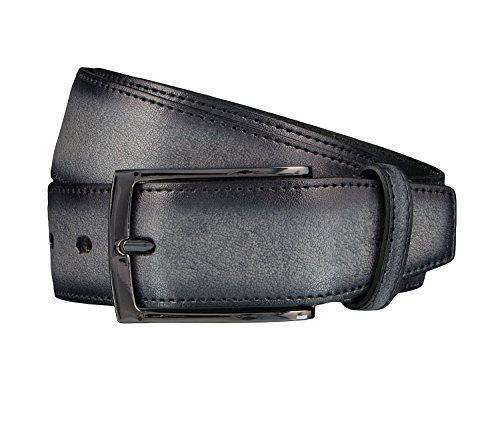 LLOYD Leder Gürtel 1295 verschiedene Farben, Länge:100 cm, Farbe:Grautöne
