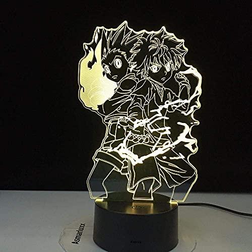 Hunter animation luz 33D luz LED luz de humor USB luz de noche para dormir para niños iluminador de control remoto táctil de 7 colores regalo creativo de cumpleaños de Navidad