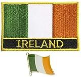 Toppa ricamata con bandiera dell'Irlanda con ferro da stiro e spilla in metallo smaltato.