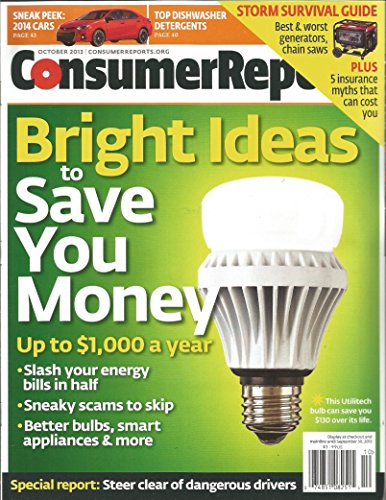 Consumer Reports Magazine October 2013 Bright New Deals Save You Money