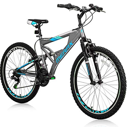 Merax 26' Mountain Bicycle with Suspension Fork 24-Speed Mountain Bike with Disc Brake, Lightweight...