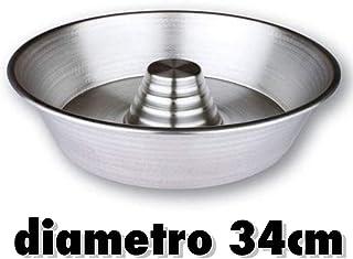 STAMPO DA FORNO IN ALLUMINIO RUOTO FORMA BABA C//CONO CIAMBELLA BUDINO TORTE RUSTICI H cm.10.5 /Ø cm.30