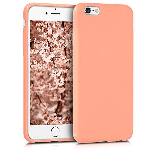 kwmobile Custodia Compatibile con Apple iPhone 6 / 6S - Cover in Silicone TPU - Back Case per Smartphone - Protezione Gommata Corallo Matt