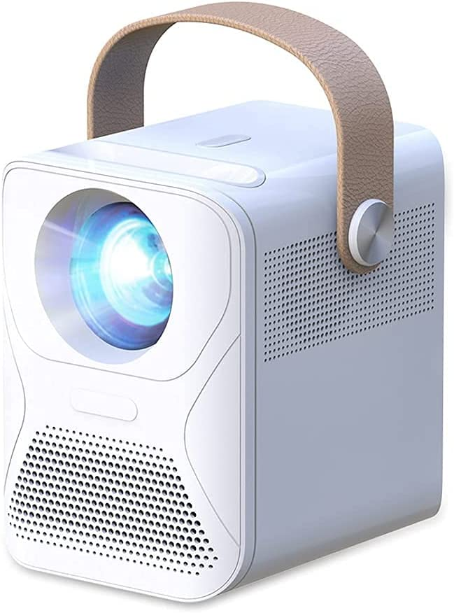 SMYONGPING Projector 1080P Full Hd Mini Projector for Home ET30 Theater 4K Viedo Beamer Portable Led for Smartphone Smart Ultra-Clear 4Kvideo Movie Game LED Projector (Size : Screen Version)
