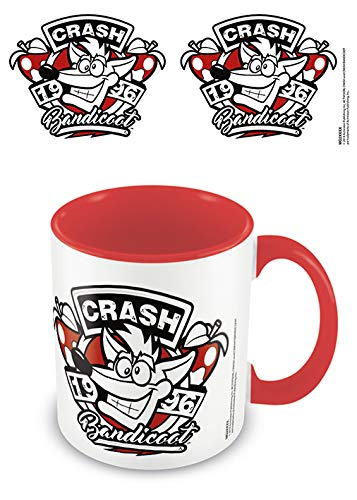 Crash Bandicoot mgc25421–taza de cerámica (315ml/11oz (1996Emblem)