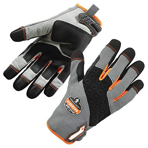 ProFlex 820 Work Glove, Abrasion-Resistant, Wet or Dry Surfaces, Medium, Gray