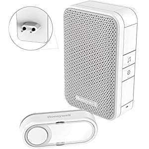 Honeywell Home DC311SP2 Kit Timbre sin Hilos enchufable, Blanco, M