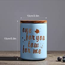 Food Storage Jar, Ceramic Food Storage Containers Small Coffee Canisters with Airtight Seal Wood Lids,Pantry Organization ...