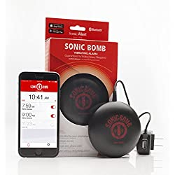 Sonic Bomb Bluetooth Super Shaker Alarm / Powerful Vibrations Guaranteed to Wake Even the Heaviest Sleepers!