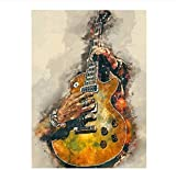XZHYMJ 5D Kits de pintura de diamantes Música Instrumento de guitarra Bordado abstracto Diamante de imitación Mosaico Arte Paisaje Decoración del hogar Regalo 40 × 50 cm