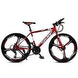 DRAKE18 Bicicleta de montaña, 26 Pulgadas, 30 Velocidad, Adultos, Hombres y Mujeres, Frenos de Doble Disco, una Rueda, Todo Terreno, conducción al Aire Libre,Red