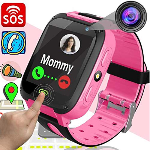 "Vividy Kids Smart Watch Phone for Boys Girls Children GPS Touch Phone Wrist Watch with 1.44""Touch Screen & Anti-Lost SOS Call GPS LBS Locator Smartwatches for Kids Gift, Compatible with iOS & Android"