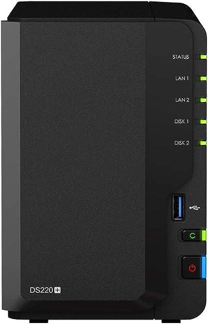 Synology Ds220 2tb 2 Bay Desktop Nas System Computer Zubehör