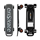 enskate Woboard Mini Electric Skateboard Long Range Board with Remote Controller Powered Long Board (Yellow)