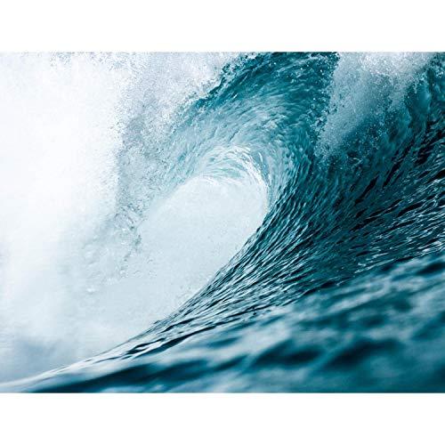 Premium Fototapete Welle 308 x 220 cm - 7 Bahnen- Vliestapete -Modern jedes Zimmer - Wand Dekoration - 3D Tapete aus Vlies 9069810a