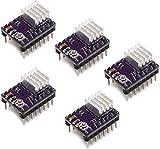 BIQU 3Dプリンタ DRV8825 ステッピングモータドライバモジュール ヒートシンク 3Dプリンタ キット A4988より高性能(5入り)