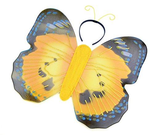 Bristol Novelty Novelty-DS062 DS062 Kit de Papillon Jaune, Taille Unique