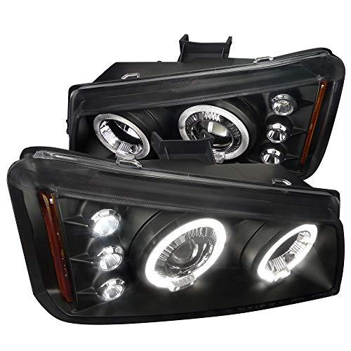 Spec-D Tuning Projector Headlights Black Lamp for 2003-2006 Chevy Silverado Truck Head Light Assembly Left + Right Pair